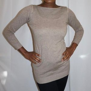 JS Millenium Taupe Long Sleeve Gold Accent